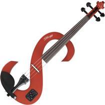 Violino Elétrico 4/4 Vermelho Com Arco Evn 4/4 Stagg
