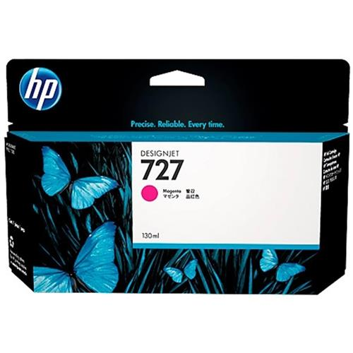 Cartucho de Tinta Plotter Hp 727 Magenta 130ML B3P20A Hp