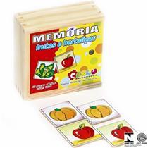 Jogo Da Memória 40 Pçs Frutas E Hortaliças 1184 Carlu