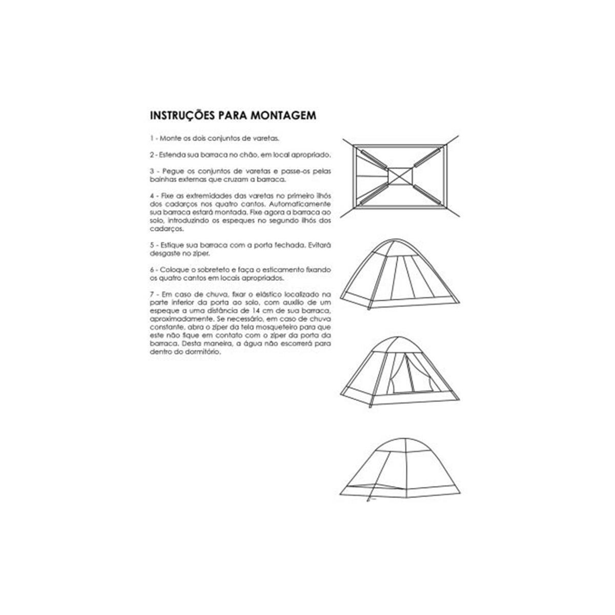 Barraca de camping delta para 4 pessoas 09720000 capri fandeluxe Gallery