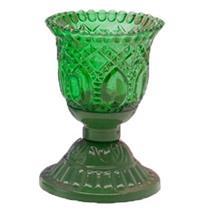 Castiçal De Vidro Goblet Vela Verde Cristal Pt1022as Gift4u