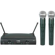 Microfone Duplo Uhf Sem Fio Tag Sound Estojo Tm-559B Tag Sound