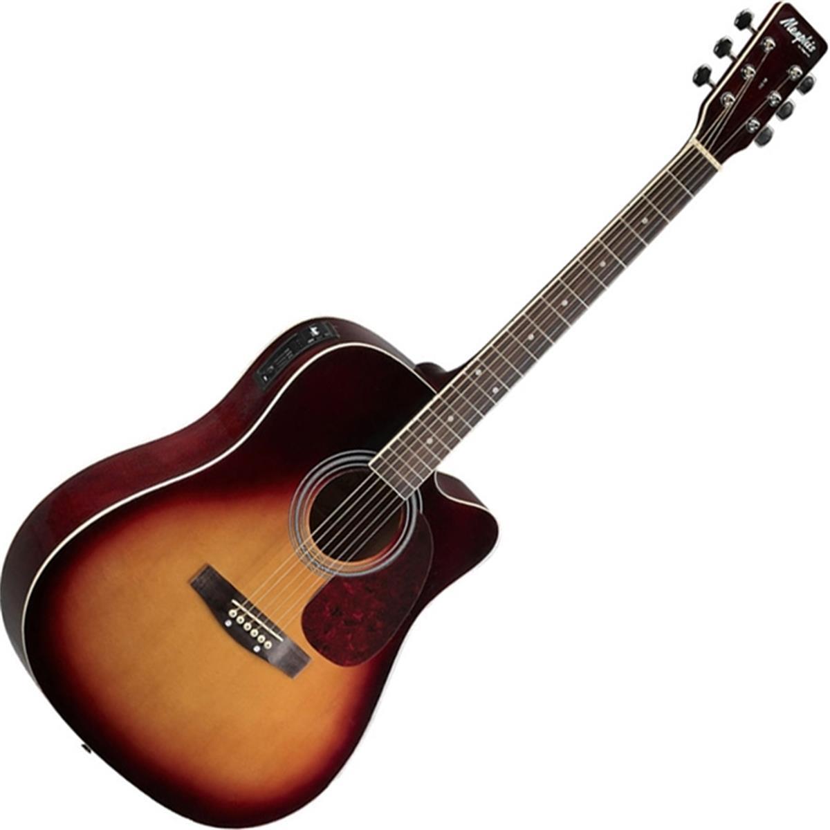 Violão Eletro Acústico Folk Memphis Sunburst Md18 Tagima
