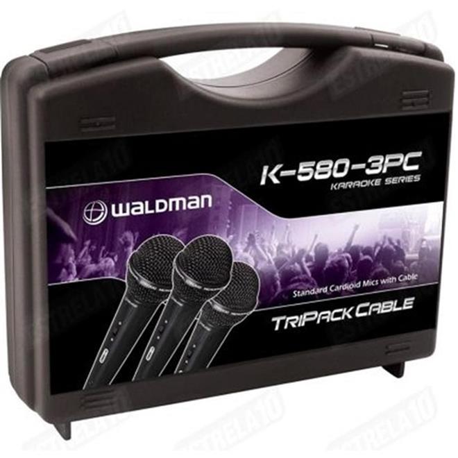 kit de karaoke 3 microfones k 580 c waldman waldman. Black Bedroom Furniture Sets. Home Design Ideas
