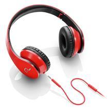 Headphone Com Microfone P2 Vermelho E Preto Ph112 Multilaser