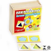 Jogo Da Memória 40 Pçs Formas Geométricas 1041 Carlu