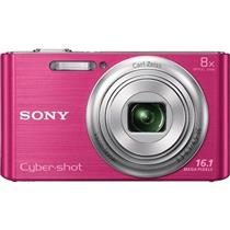 Camera Digital Rosa 16.1 Megapixels Dscw730 Sony