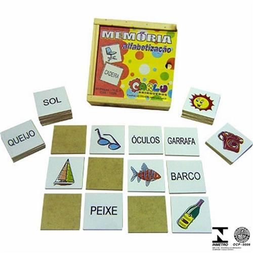 Jogo Da Memória 40 Pçs Alfabetização 1038 Carlu