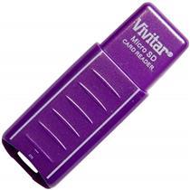 Leitor Gravador De Cartão Micro Sd Usb Roxo Vivrw1000 Vivitar