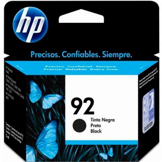 Cartucho De Tinta 92 5.5ml Preto C9362WB HP Suprimentos