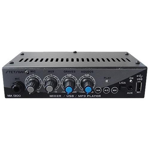 Mixer Automotivo Usb Microfone St-Ma1300 Stetsom
