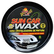 Cera Cristalizadora 100G Com Esponja Automotivo Sun Car