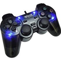 Joypad Play 2 Analógico Com 4 Leds Eb802 Preto Ebolt