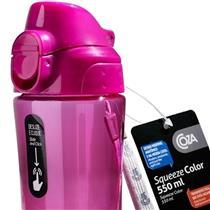 Squeeze Color 550Ml Rosa Com Trava 61051-3416 Coza