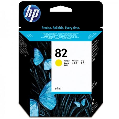 Cartucho De Tinta Plotter Hp 82 Amarelo 69Ml C4913a Hp