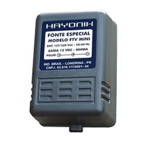 Fonte Ftv Mini 12V 800Ma Para Tv Importada Plug C- Hayonik