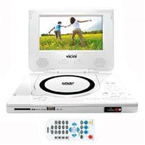 Dvd Player Portátil Branco Com Tela Vc-6200 Vicini