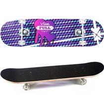 Skate Infantil Semi Pró Roxo E Preto 5198 Viva Full
