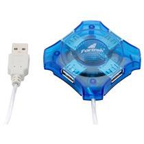 Hub Usb 4 Portas 480Mbps Azul Hbu401 Fortrek