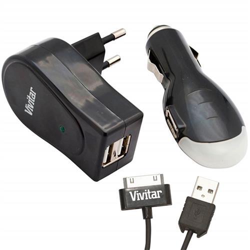 Kit De Carregador Para Casa E Veicular V15988c-Ipd Vivitar