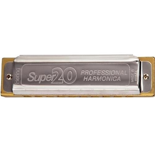 Gaita De Boca Super 20 Diatônica 8020 D Ré Hering