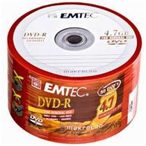 Mídia Dvd-R Virgem 4.7 Gb Com 50 Unidades 130000151 Emtec