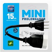 Mini Cabo Prolongador 2P+T 15Cm 1710 Mppp15cm2pt1710 Daneva