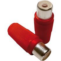 Kit Plug Rca Fêmea Vermelho 10 Unidades 19817 Loud