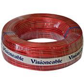 Cabo Cristal 2x16 1.00mm Rolo 100m Vermelho Visioncable