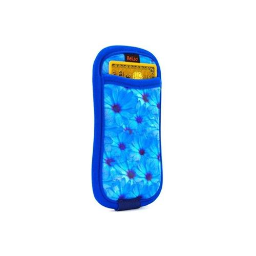 Case Para Iphone 5 E 5S Com Porta Cartão Flores Reliza