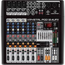 Mixer Krystal Pod 12 canais 2+2 Bus KP-12.4UFX Waldman