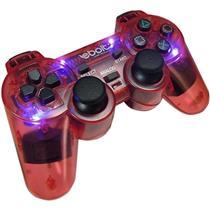 Joypad Play 2 Analogico Com 4 Leds Eb802 Vermelho Ebolt
