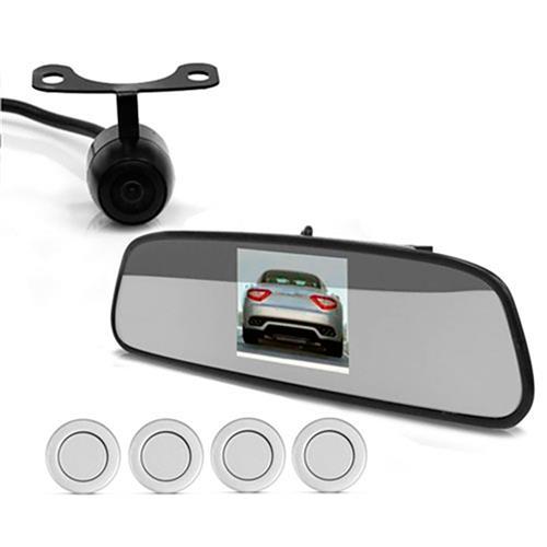 Sensor De Estacionamento Com Câmera De Ré Ps-430C C3 Tech