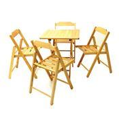 Jogo Mesa E 4 Cadeiras Tramontina Beer 10630006 Dobrável