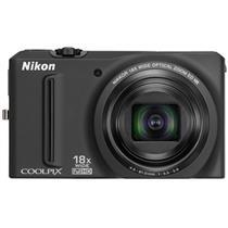 Câmera Digital 12.1Mp Coolpix Preta S9100 Nikon