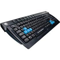 Teclado Gamer Multimidia Usb Preto E Azul Gk702 Fortrek