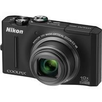 Câmera Digital 12.1Mp Coolpix Preta S8100 Nikon