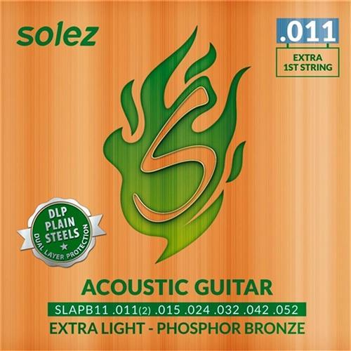 Encordoamento Violão Dlp Bronze .011 Slapb11 Solez