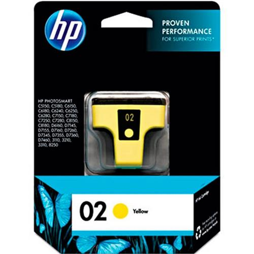 Cartucho de Tinta HP 02 6ML Amarelo C8773WL HP