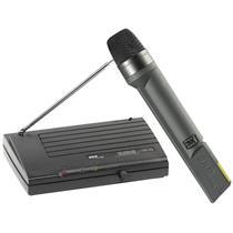 Microfone Sem Fio Preto Vhf655 Skp