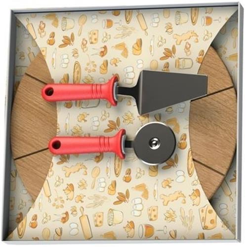 Conjunto Para Pizza 3 Peças Em Inox 25099716 Tramontina
