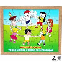 Quebra Cabeça Educativo De Inclusão Social 1546 Carlu