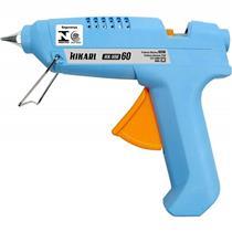 Pistola De Cola Quente Bastão 60W Bivolt Azul HM60 Hikari