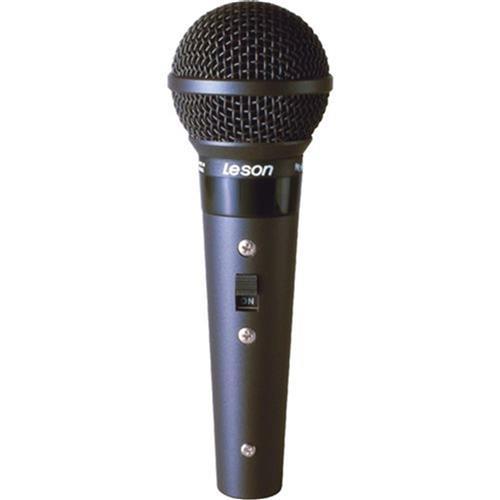Microfone Profissional Com Fio Preto Fosco Sm58b Leson