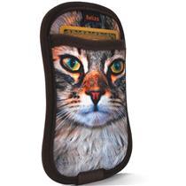 Capa Para Smartphone Com Porta Cartão Gato Reliza