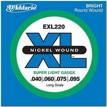Encordoamento Para Baixo Elétrico 4 Cordas Exl220 D Addario