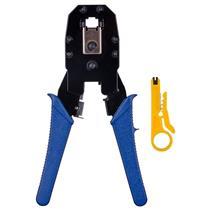 Alicate Portátil Para Crimpar Rj11 Rj12 Rj45 Azul Alc01 Hyx