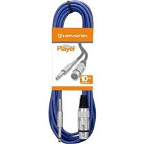 Cabo Para Microfone Xlr(F) X P10 10M Player Azul Hayonik