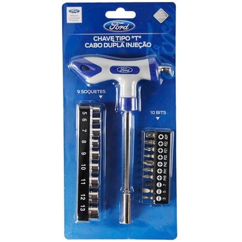 Jogo De Chaves T 20 Peças 9 Soquetes Jcf20p9s10b Ford