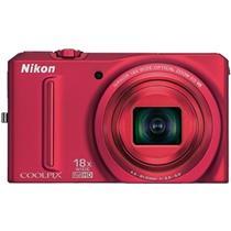 Câmera Digital 12.1Mp Coolpix Vermelha S9100 Nikon